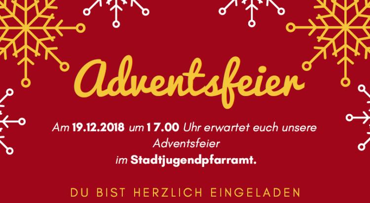 Adventsfeier 2018 Einladung